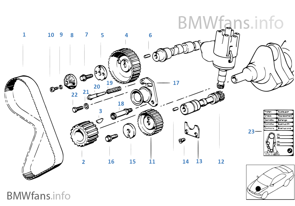 Bmw M20 Timing Marks Bmw E30 3 Series Timing Belt