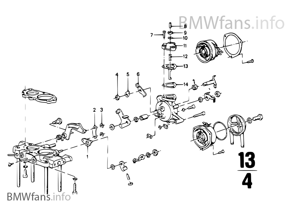 Tapa de carburador/piston/flotador