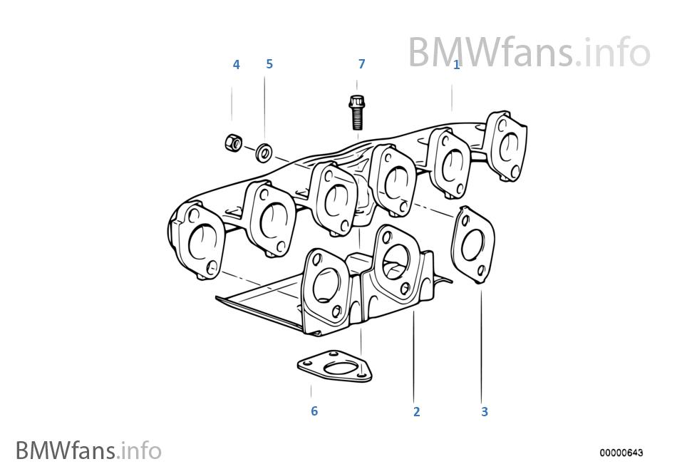 exhaust manifold bmw 5 e39 525tds m51 europe rh bmwfans info Ford Engine Repair Manual Small Engine Repair Manuals