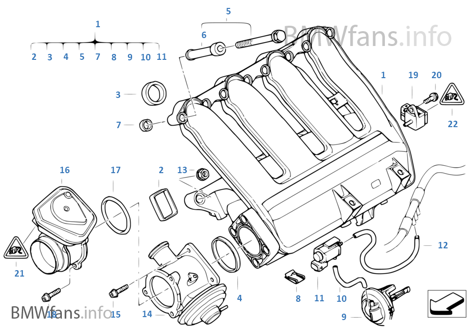 Intake Manifold Agr With Flap Control: BMW X3 2 0d Engine Diagram At Daniellemon.com
