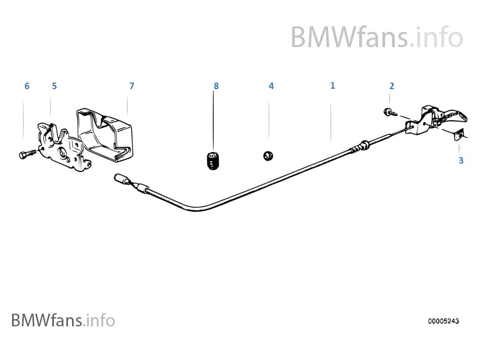 Engine Hood Mechanism BMW 3 E30 M3 S14 Japan
