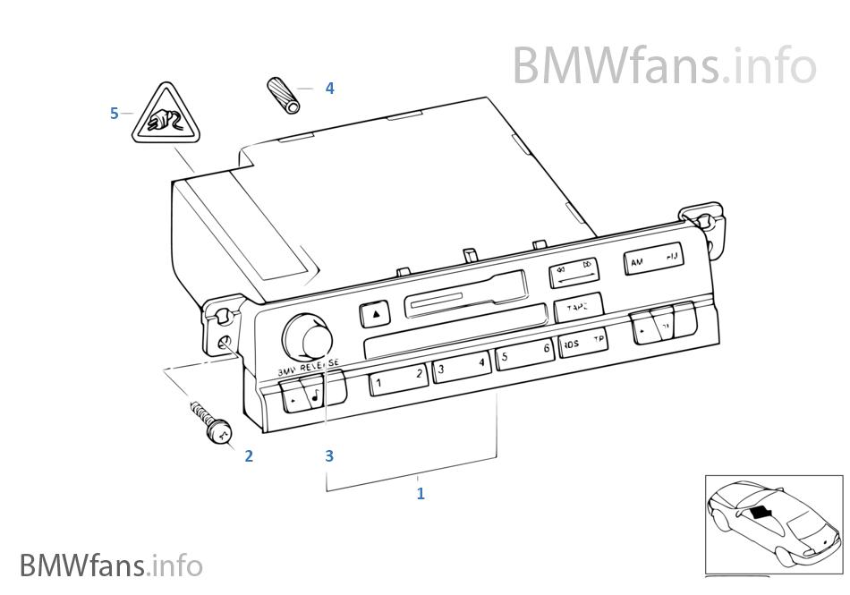 Radio BMW Reverse