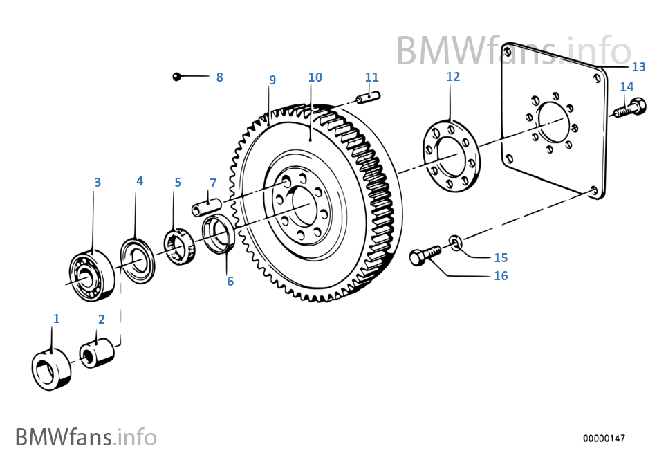 Flywheel Twin Mass Flywheel Bmw 7 E32 735i M30 Europe
