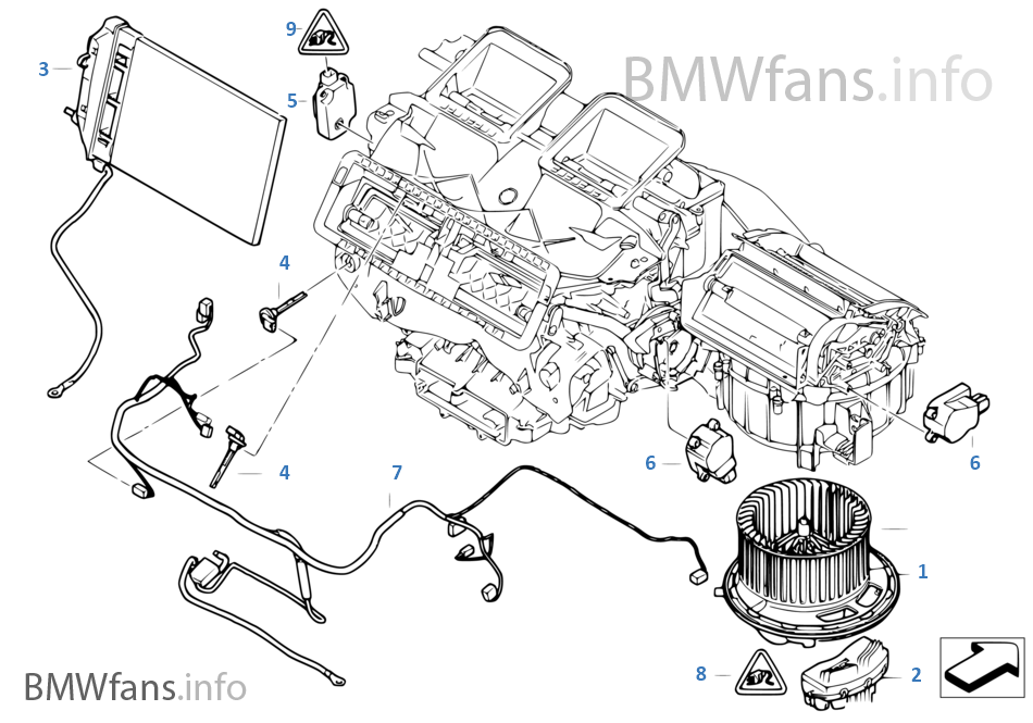 Electric parts for heater   BMW 1' E82 135i N54 EuropeBMWfans.info