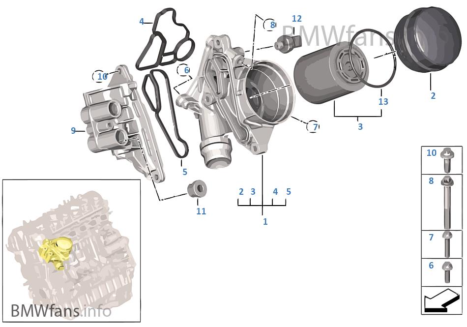 214 Lversorgung 214 Lfilter Bmw 3 E91 Lci 335i N54 Europa