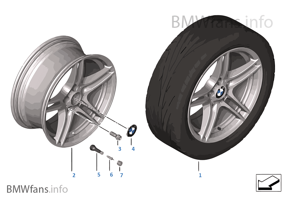 BMW LAW Double Spoke Performance 313