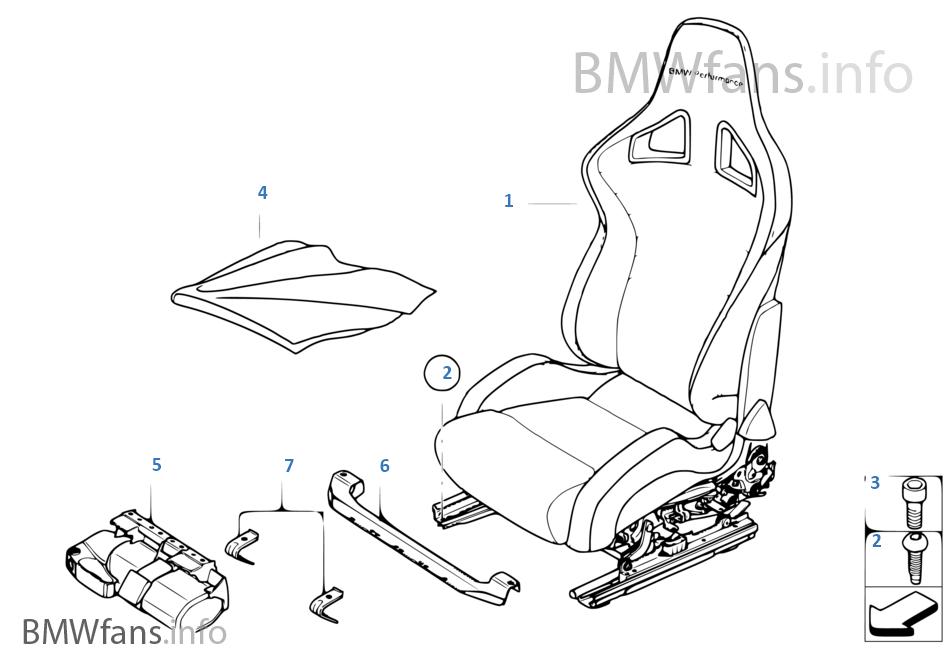 BMW Performance σπορ κάθισμα