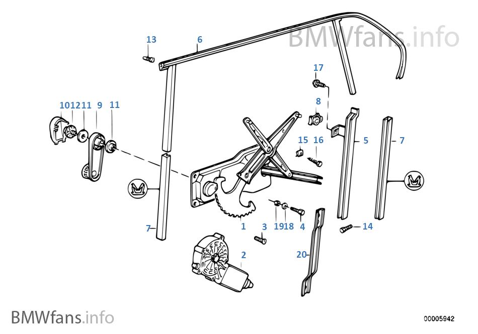 Kapı camı mekanizması, Arka