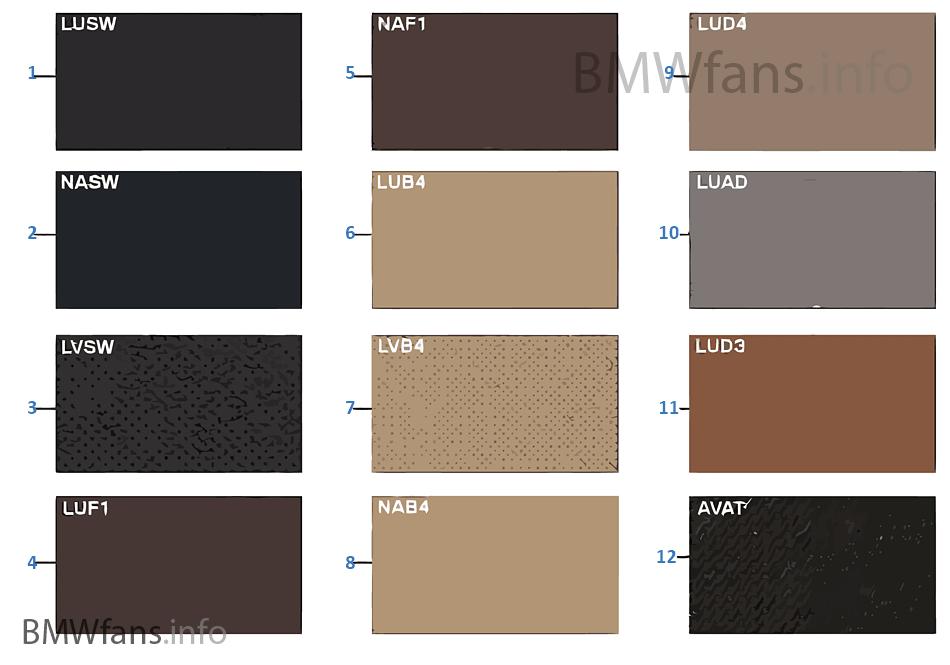Musterseite Polsterfarben Leder Stoff Bmw X5 E70 X5 3