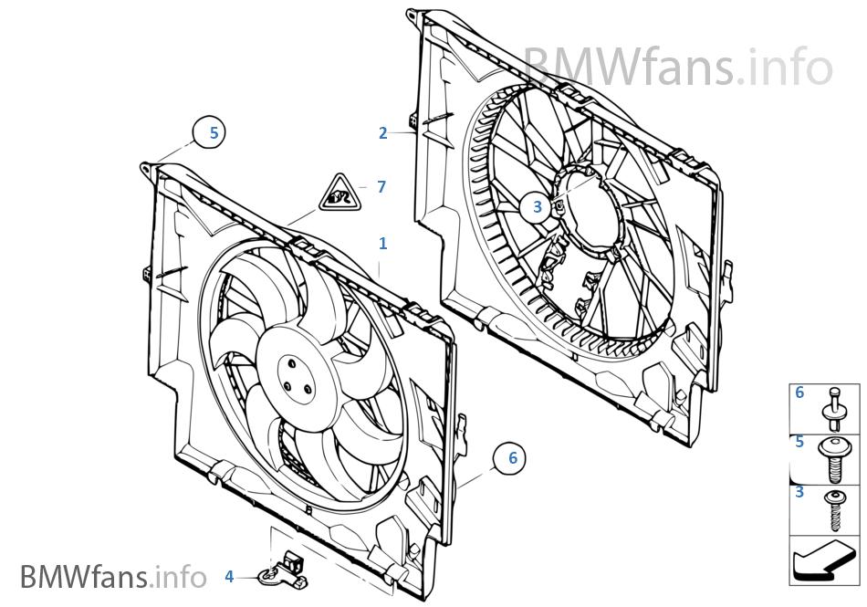 Cadre de ventilateur, néc.de montage | BMW 3' E90 320d M47N2 ...