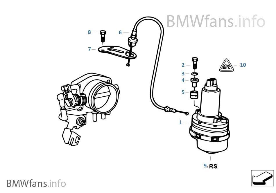 Throttle Actuator Asc T Bmw 5 E34 525i M50 Europe