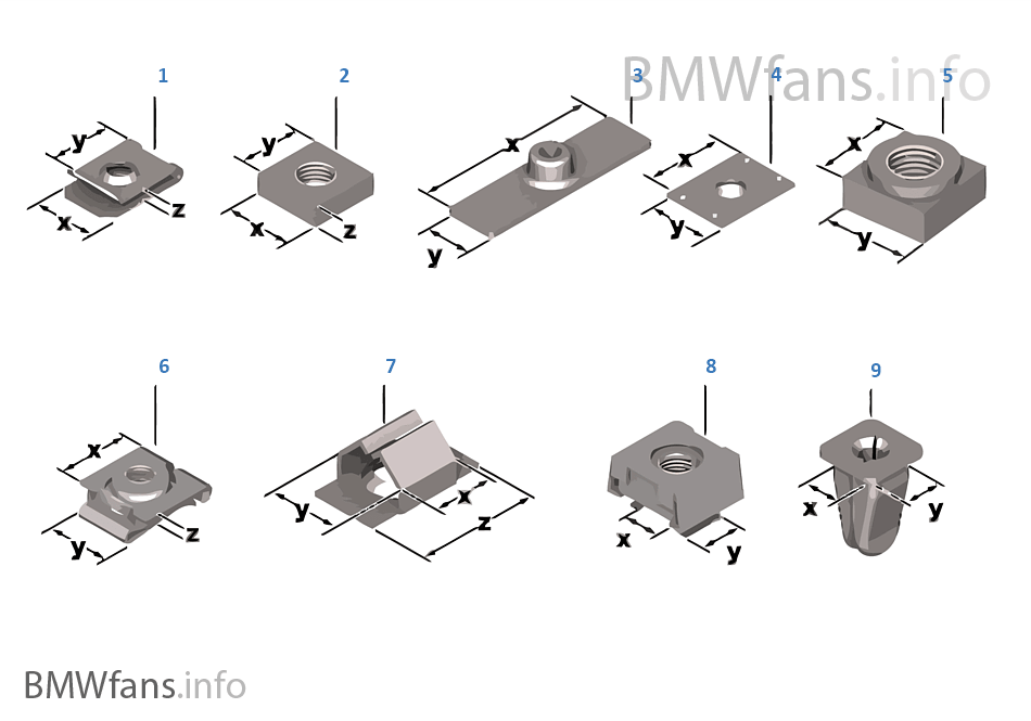Mechanical connection elements