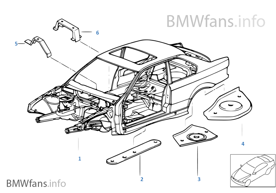 e36 body diagram