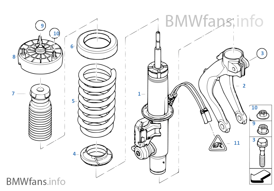 bmw strut diagram