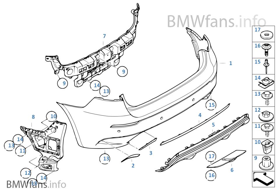 M Trim Rear Bmw X6 E71 X6 M S63 Europe