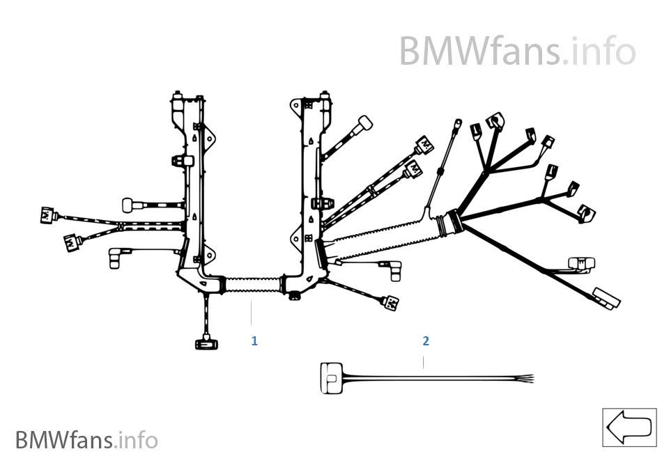 Bmw engine wiring harness electrical drawing wiring diagram engine wiring harness engine module bmw x5 e70 x5 4 8i n62n usa rh bmwfans info bmw e46 engine wiring harness diagram bmw x5 engine wiring harness cheapraybanclubmaster Gallery