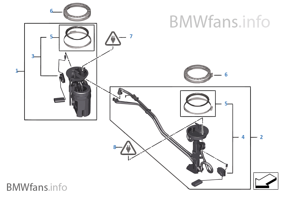 fuel pump and fuel level sensor