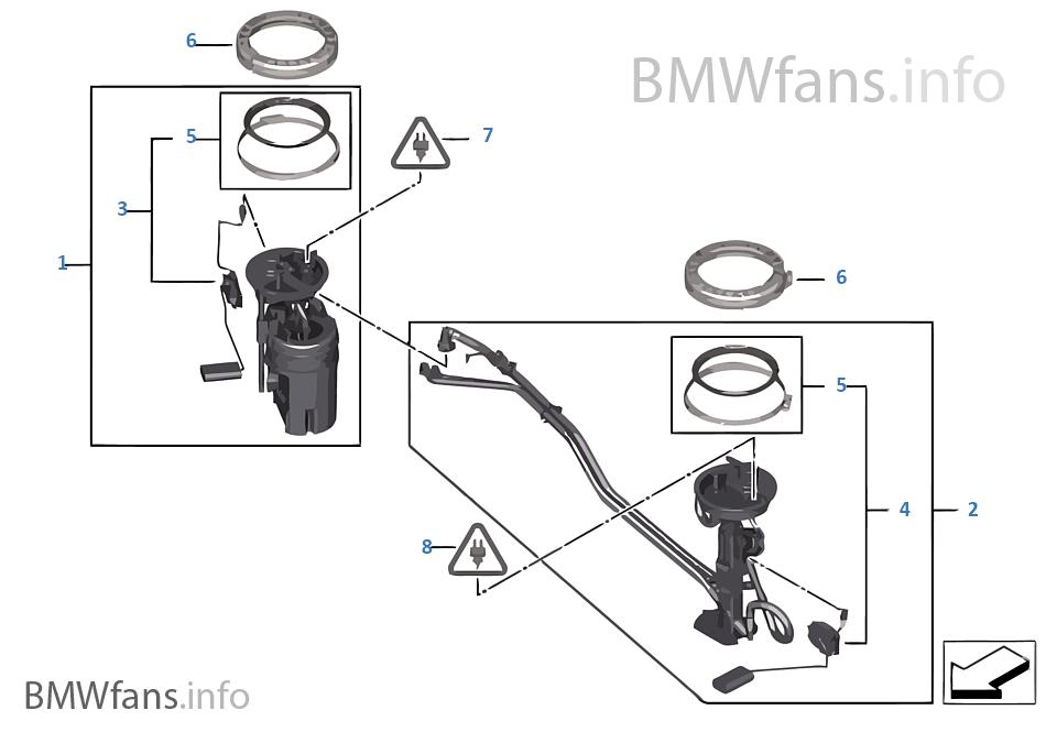 fuel pump and fuel level sensor bmw x5 e70 x5 n52n europe. Black Bedroom Furniture Sets. Home Design Ideas