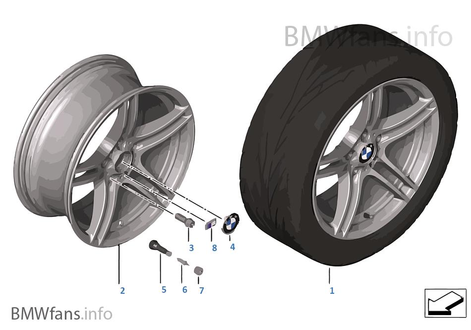 Ζάντα ελαφρ.κράμ.BMW M διπλές ακτίν.313