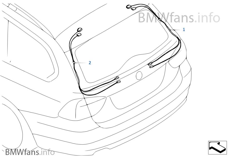 ar74 rep wiring harness, hinge on trunk lid bmw 5' e61 525xi n52 europe,Bmw 5 Wiring Diagram