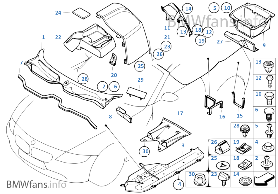 Various Body Parts Bmw Z4 E85 Z4 3 0si N52 Usa