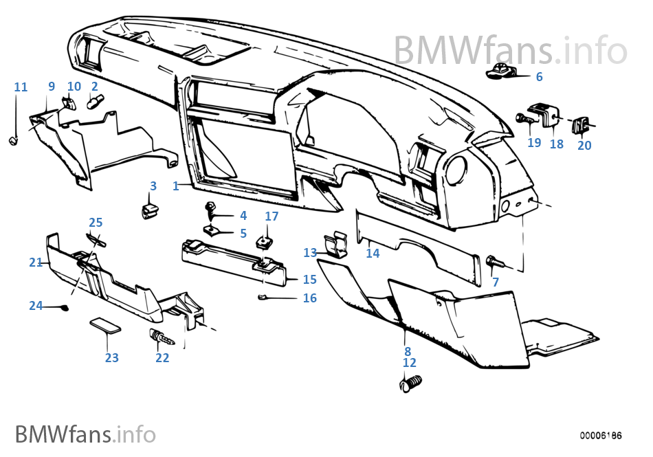 Bmw E30 Dashboard Parts Diagram Bmw Auto Wiring Diagram