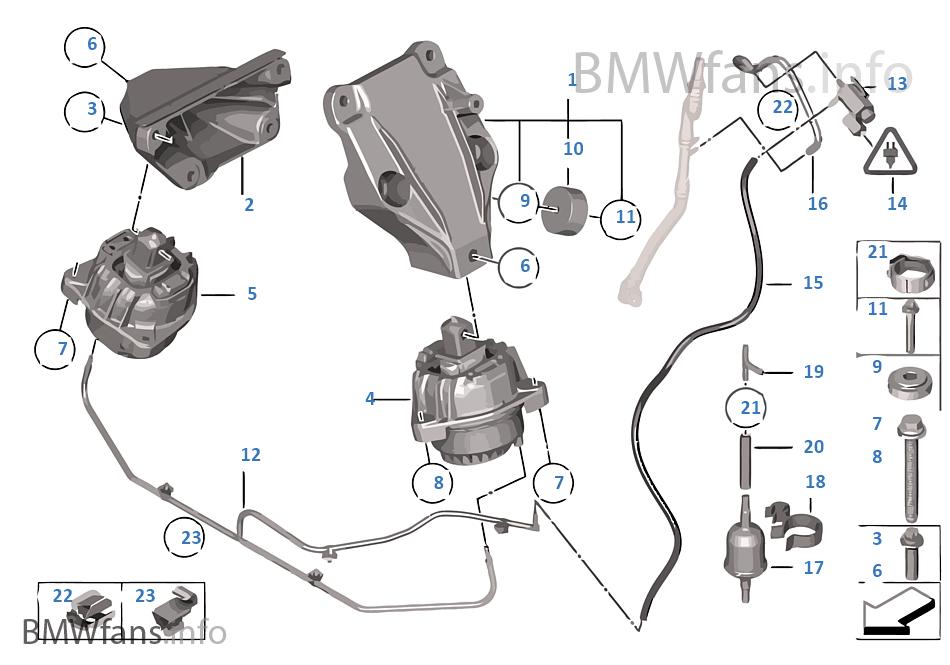 Engine Suspension | BMW 5' F10 530d N57 India
