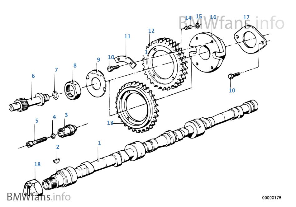 制御駆動装置のカムシャフト
