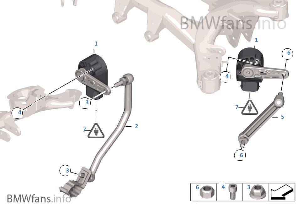 Sensor Leuchtweitenregulierung Bmw X3 F25 X3 20dx N47n