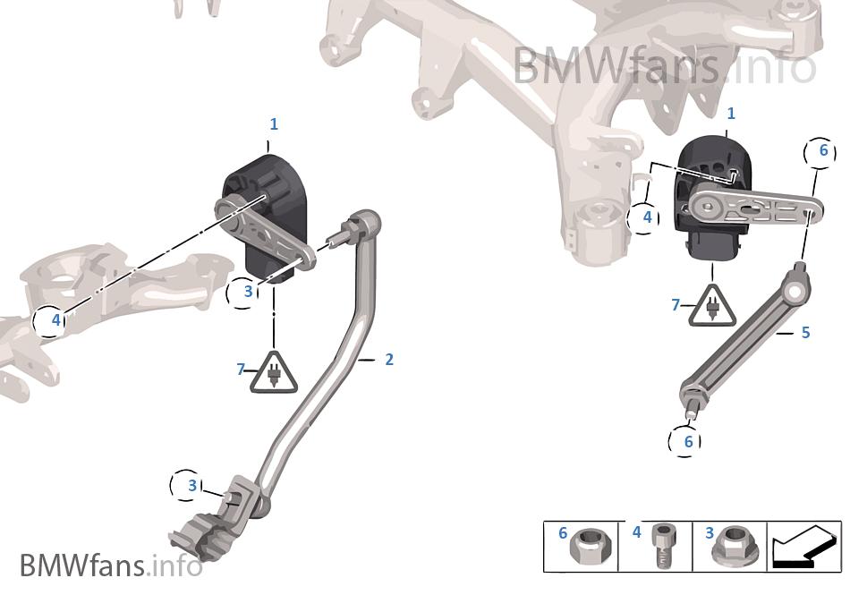 Headlight Vertical Aim Control Sensor Bmw X3 F25 X3 20dx