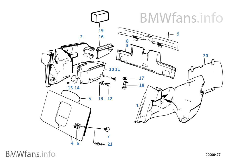 bmw 325i trunk diagram
