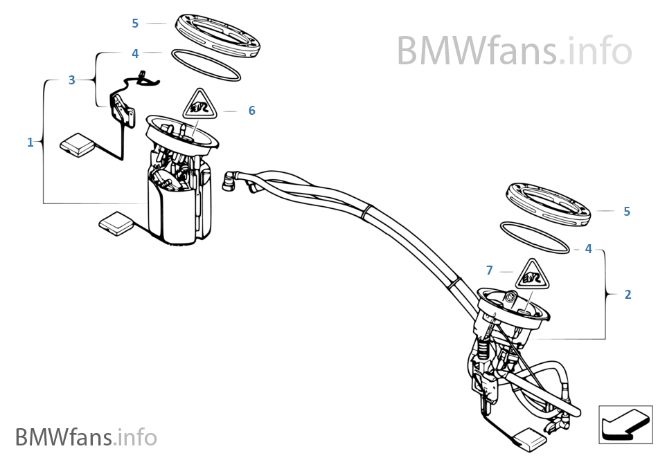 Fuel filter pump fuel level sensor on bmw fuel filter