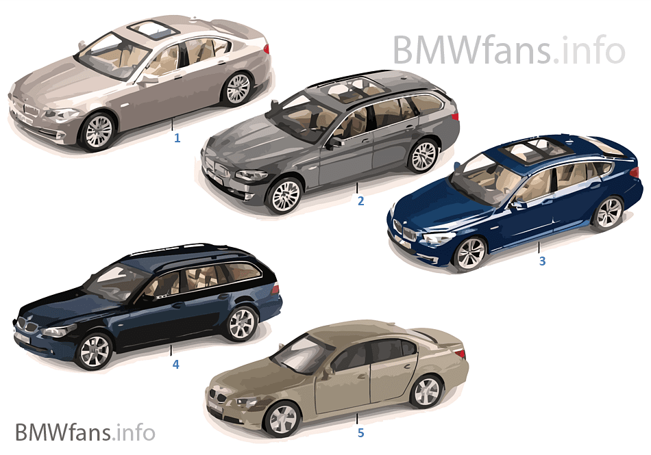 BMW Miniaturen — BMW 5er Reihe 2010/11