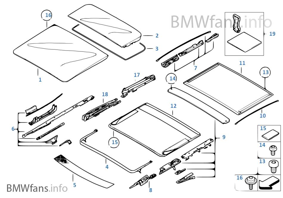 bmw x3 panoramic sunroof diagram