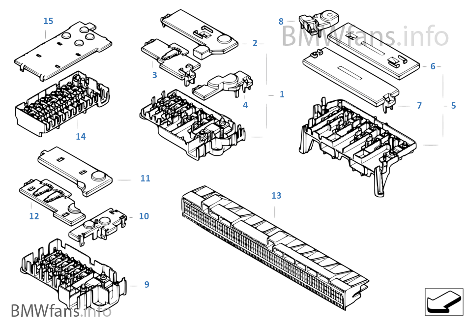 single components for fuse box