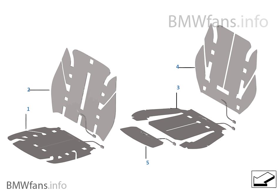 Elektrikli parçalar koltuk ısıtması ön