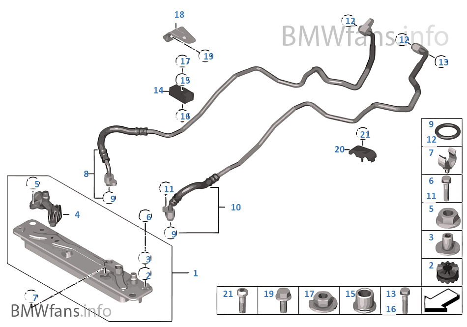 Heat Exch Transmission Oil Cooler Line Bmw X5 E70 X5 3
