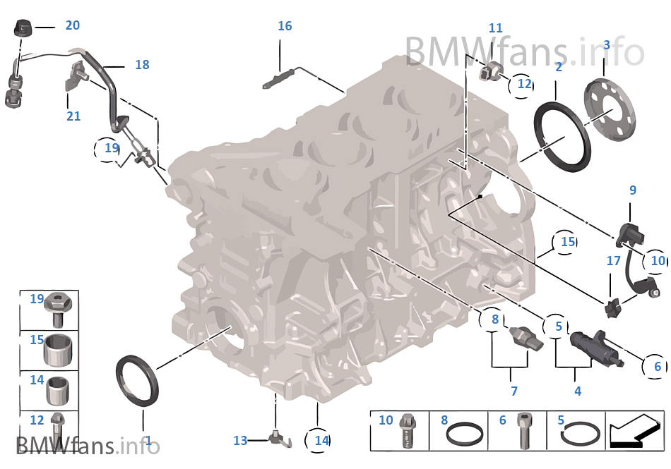 Engine Block Mounting Parts | BMW 3' F30 328i N26 USA