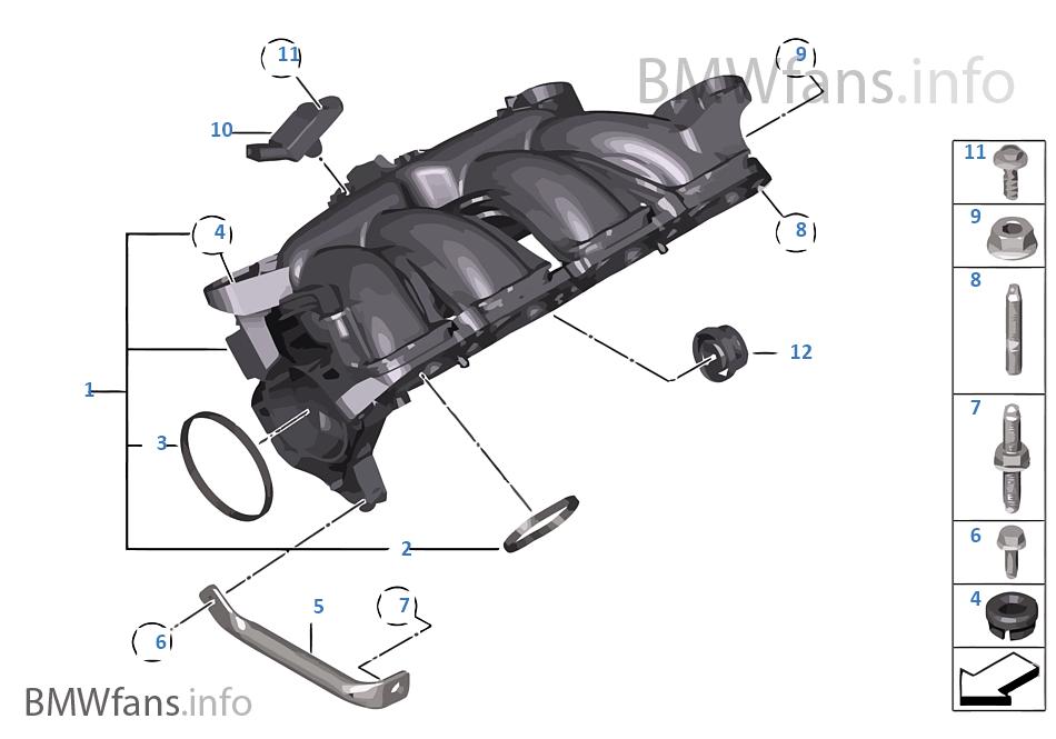 intake manifold system bmw 1\u0027 f20 118i n13 europeintake manifold system bmw 118i f20 5 doors europe n13