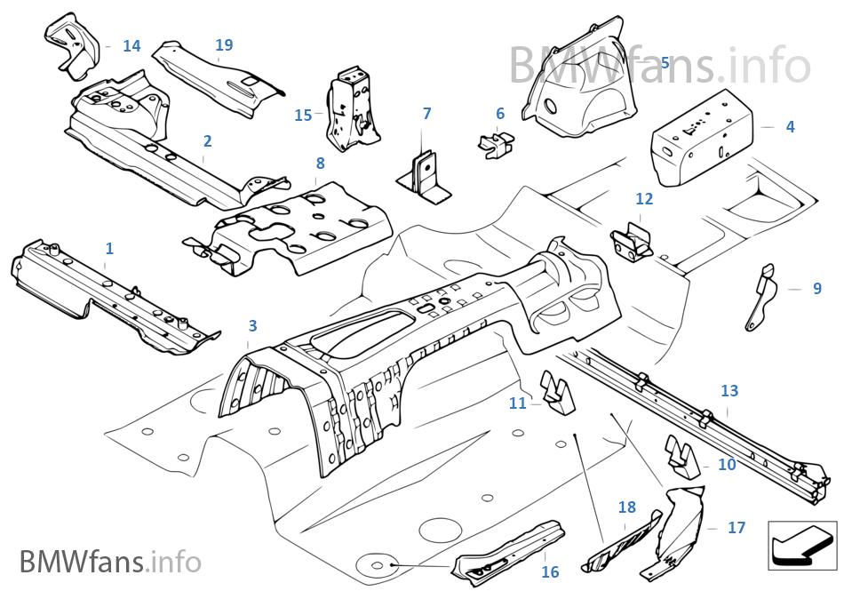 Přepážka zavaz.prostor/díly podlahy