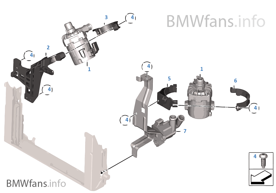 Additional water pump | BMW 5' F10 M5 S63N USA