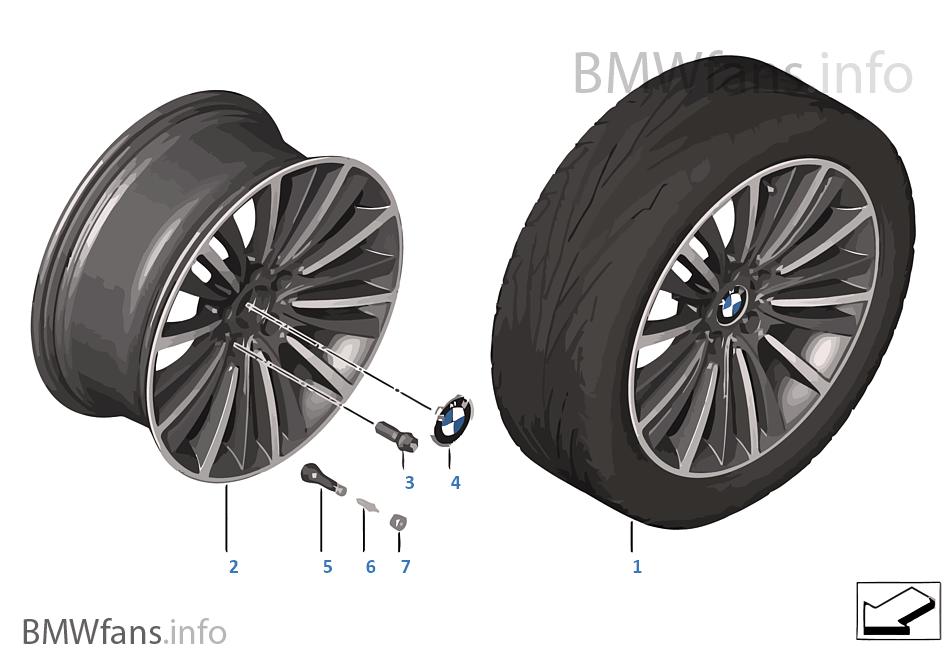 BMW LM Jant W spoke 423 — 19''