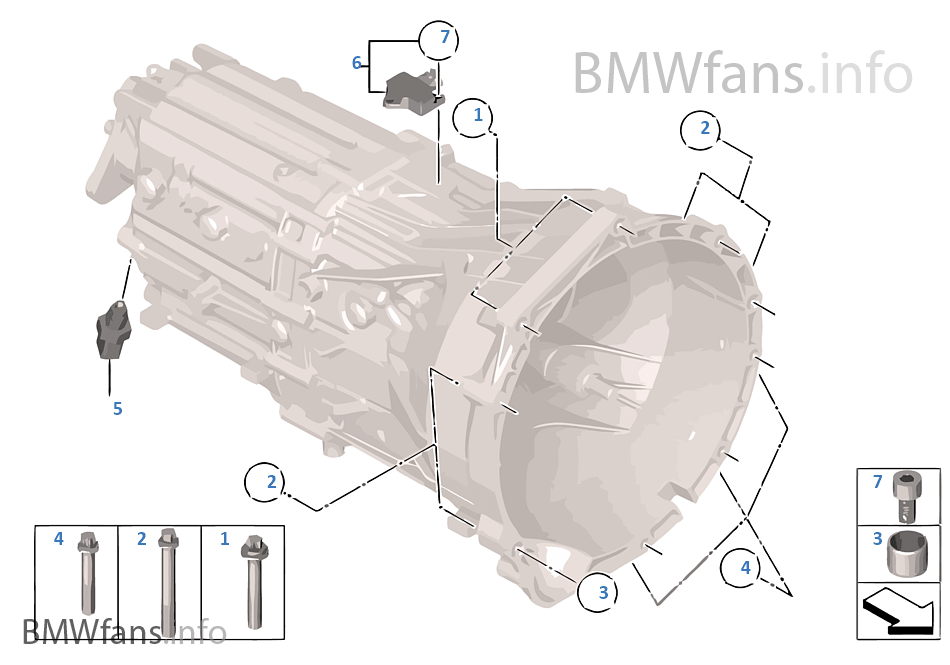 Gearbox mounting parts | BMW 5' F10 530d N57 Europe