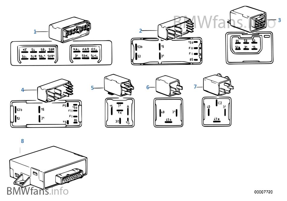 bmw e30 e28 e23 z1 1386978 wischerrelais relais wischer