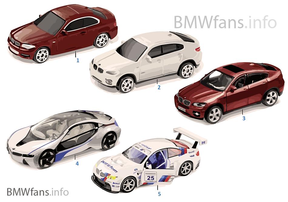BMW miniatury — sady 2011/12