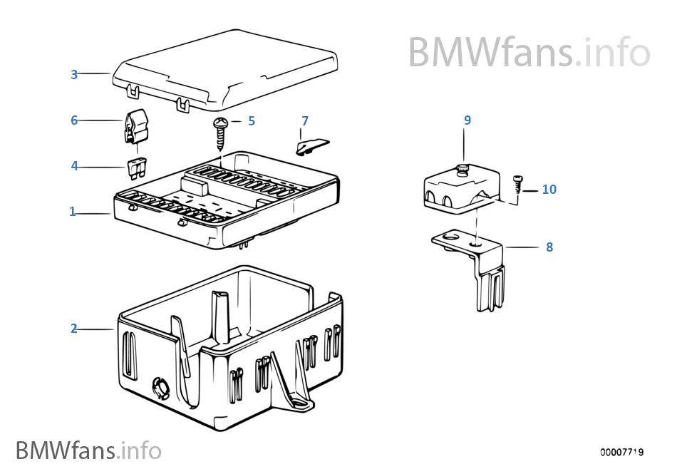 bmw e30 sicherungskasten fusebox fuse box cover kasten