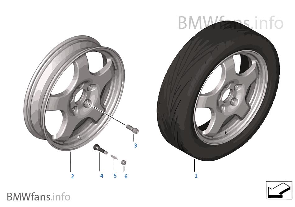 Комплект Аварийное колесо с шиной