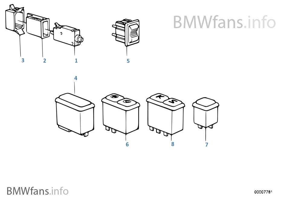 schalter mittenkonsole bmw 6 39 e24 635csi m30 europa. Black Bedroom Furniture Sets. Home Design Ideas