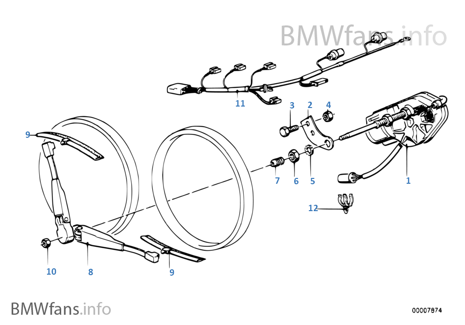 Single Parts For Head Lamp Cleaning Bmw 3 E30 318i M10