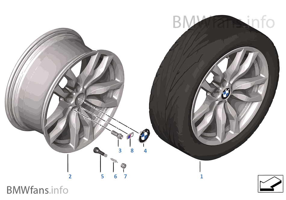 Л/c диск BMW M со сдвоен.спиц. диз.435